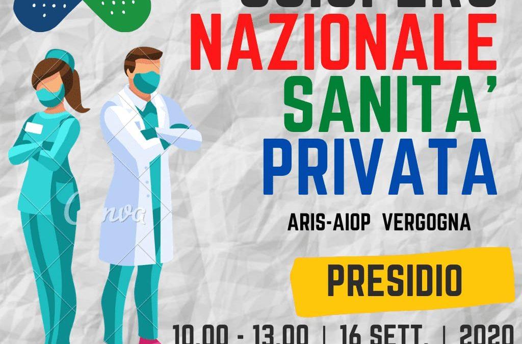Sciopero generale della sanità privata il prossimo 16 settembre