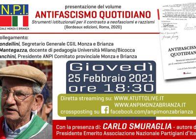 Antifascismo quotidiano, la partecipazione della Cgil di Monza e Brianza all'iniziativa di Anpi con Carlo Smuraglia