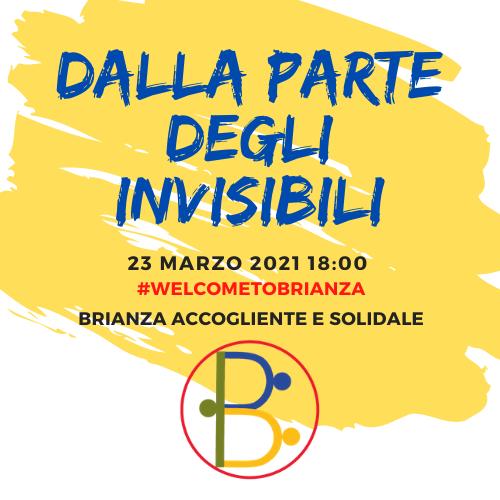 Dalla parte degli invisibili, la campagna di Brianza Accogliente e Solidale