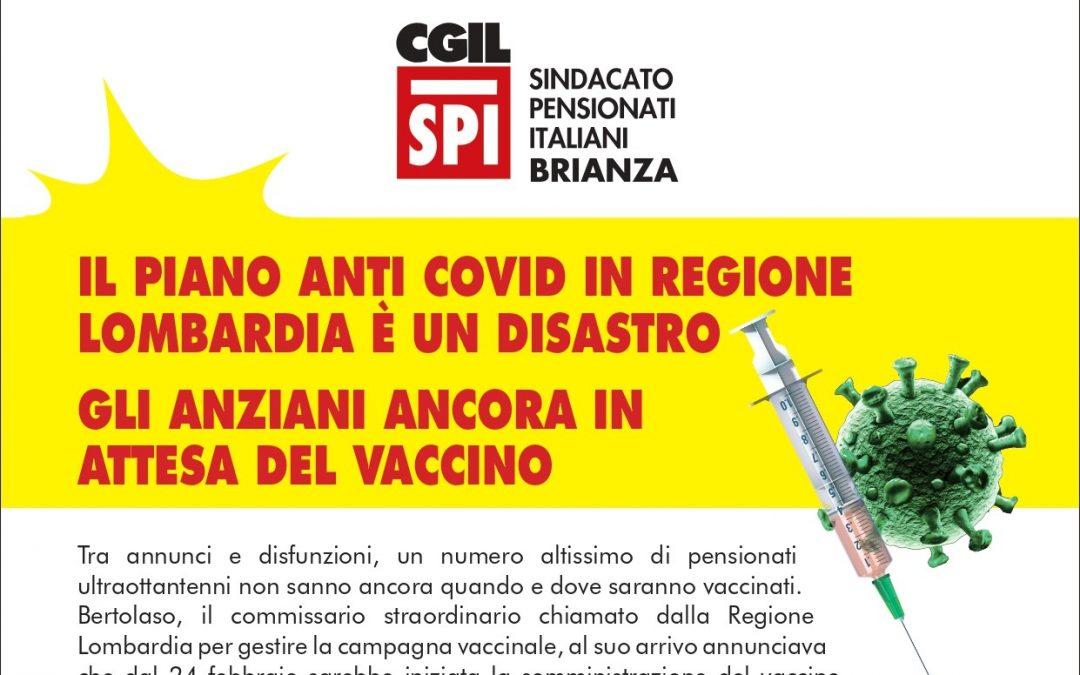 """Vaccinazione anti-Covid in Lombardia. Lo Spi Cgil di Monza e Brianza protesta: """"Gestione disastrosa, necessario accelerare!"""""""