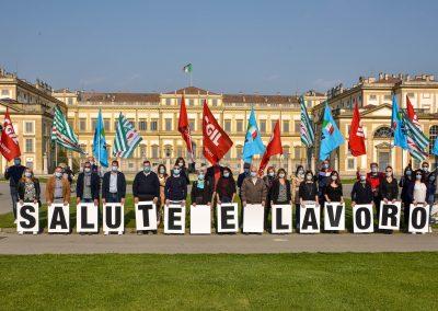 L'Italia Si Cura con il lavoro. Buon Primo maggio con il flash mob alla Villa Reale