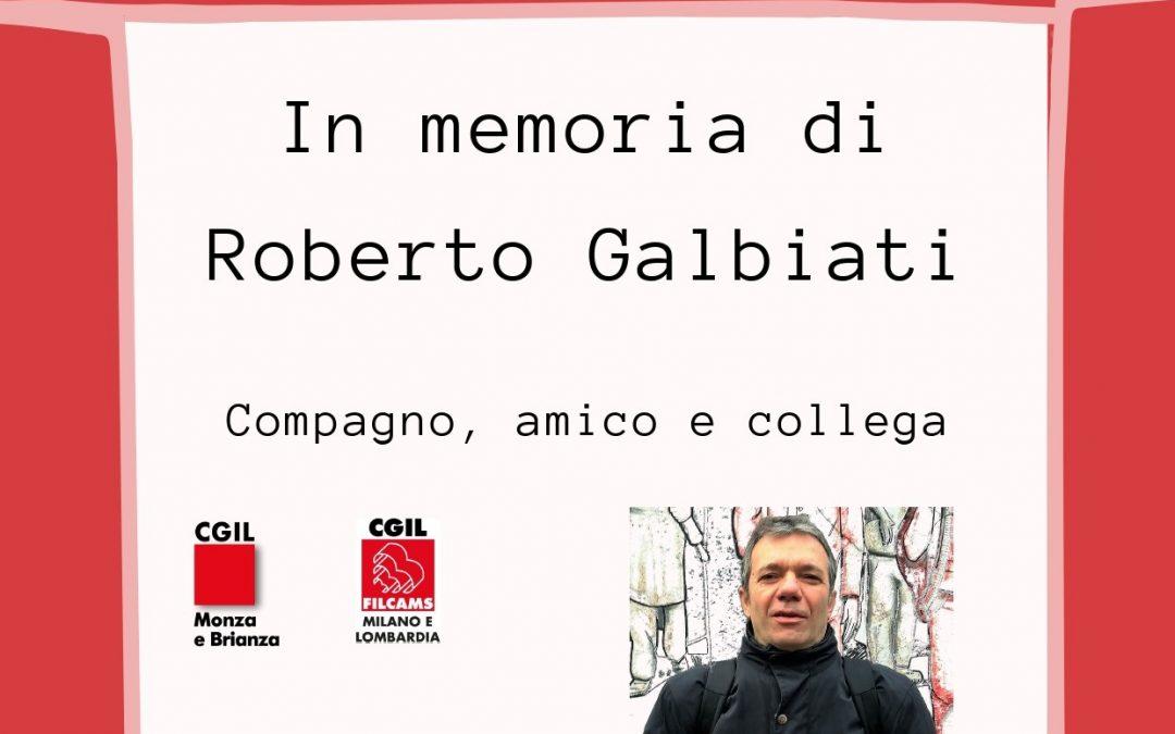 """""""In memoria di Roberto Galbiati"""", al via la raccolta fondi in ricordo del compagno scomparso"""