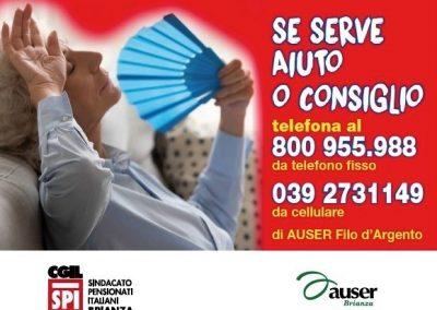 """""""Affrontiamo il caldo senza rischi"""", la campagna informativa di Spi Cgil e Auser in Brianza: consigli utili e due numeri dedicati"""