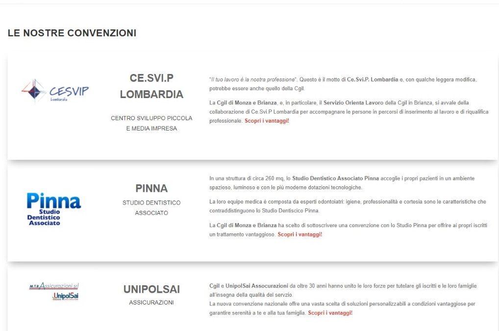 Cgil Monza e Brianza, nuovi vantaggi per gli iscritti